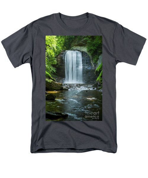 Men's T-Shirt  (Regular Fit) featuring the photograph Downstream Shade Looking Glass Falls Great Smoky Mountains Art by Reid Callaway