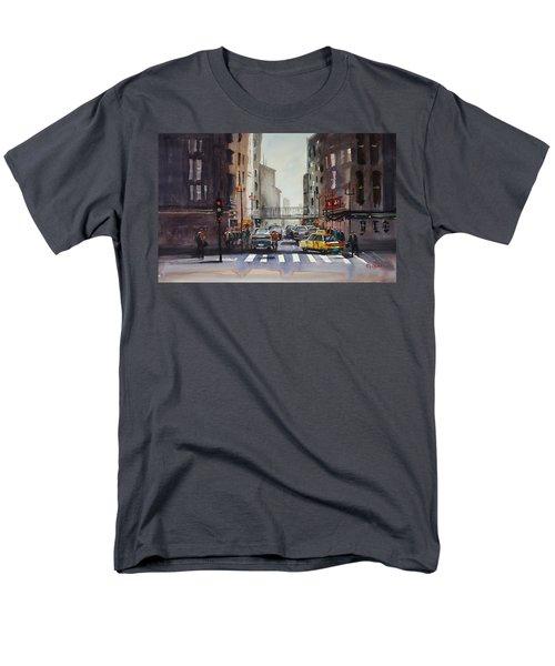 Downtown Chicago Men's T-Shirt  (Regular Fit) by Ryan Radke