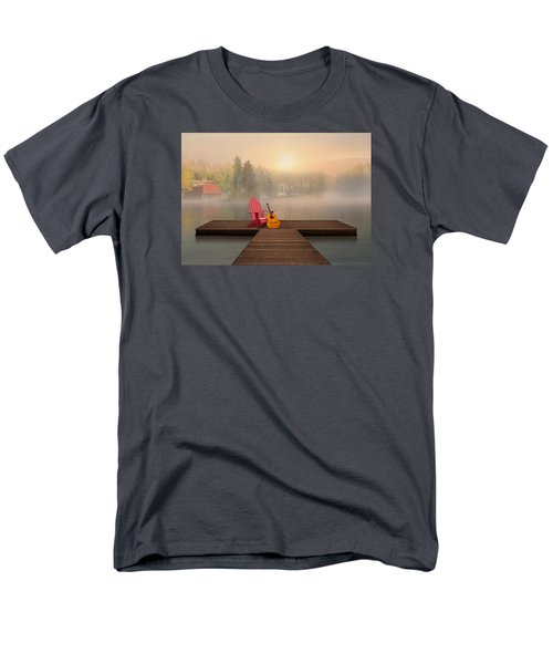 Men's T-Shirt  (Regular Fit) featuring the digital art Dreamy Country Lake by Nina Bradica