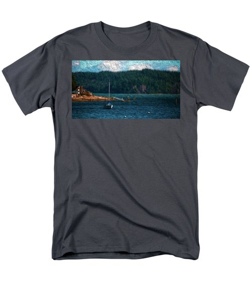 Men's T-Shirt  (Regular Fit) featuring the digital art Drifting by Timothy Hack