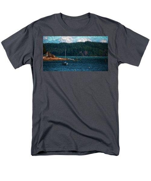 Men's T-Shirt  (Regular Fit) featuring the digital art Drifting by Timothy Hack