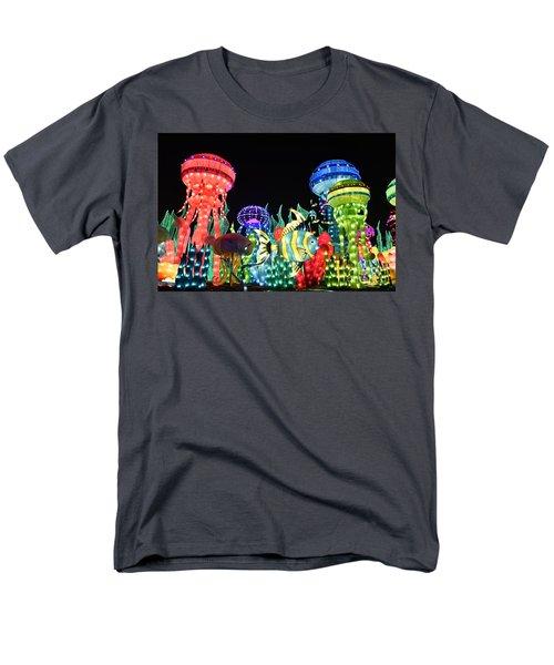 Men's T-Shirt  (Regular Fit) featuring the photograph Dubai - Garden Glow by Hanza Turgul