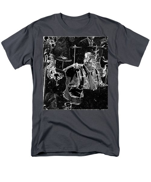 Men's T-Shirt  (Regular Fit) featuring the mixed media Duke Ellington by Charles Shoup