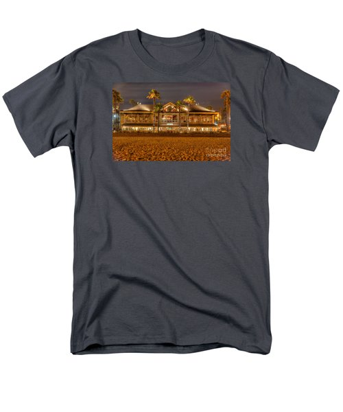 Men's T-Shirt  (Regular Fit) featuring the photograph Duke's Restaurant Huntington Beach - Back by Jim Carrell