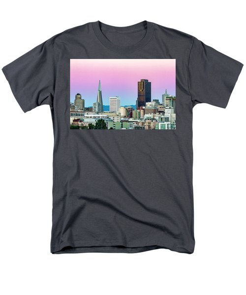 Men's T-Shirt  (Regular Fit) featuring the photograph Dusk In San Francisco by Bill Gallagher