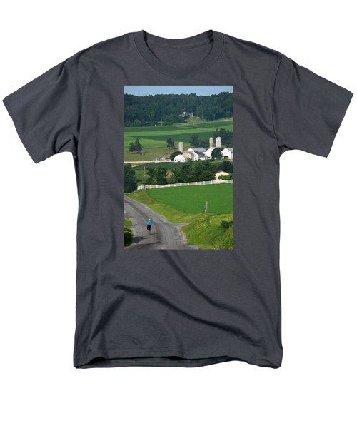 Dutch Country Bike Ride Men's T-Shirt  (Regular Fit) by Lawrence Boothby
