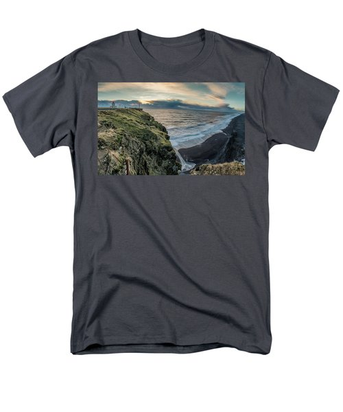 Dyrholaey Light House Men's T-Shirt  (Regular Fit) by Allen Biedrzycki