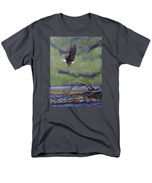 Men's T-Shirt  (Regular Fit) featuring the painting Eagle River by Dan Wagner