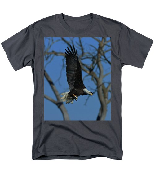 Men's T-Shirt  (Regular Fit) featuring the photograph Eagle With Fish by Coby Cooper