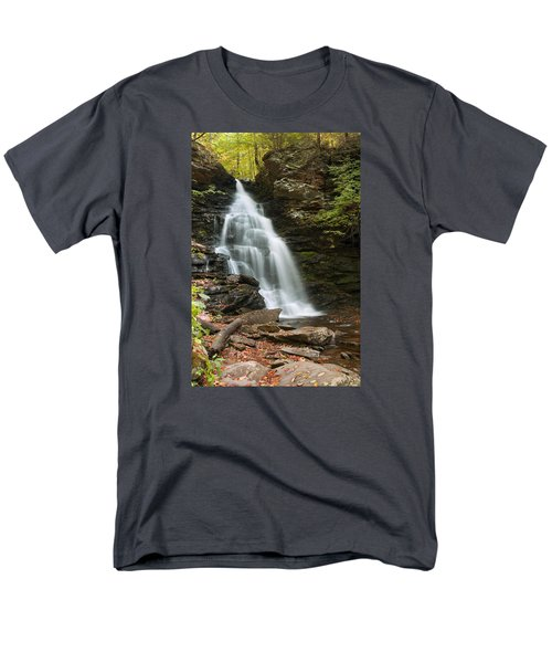Early Autumn Morning Below Ozone Falls Men's T-Shirt  (Regular Fit) by Gene Walls