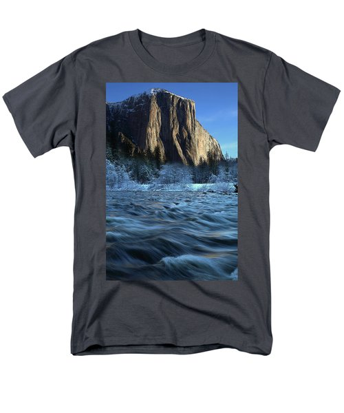 Early Morning Light On El Capitan During Winter At Yosemite National Park Men's T-Shirt  (Regular Fit) by Jetson Nguyen