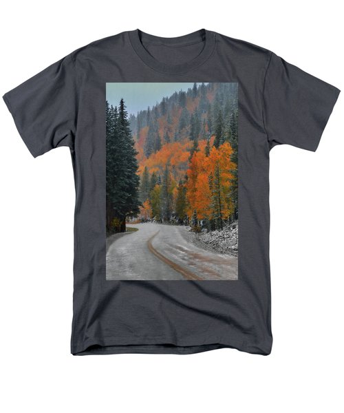 Men's T-Shirt  (Regular Fit) featuring the photograph Early Snow by Dana Sohr