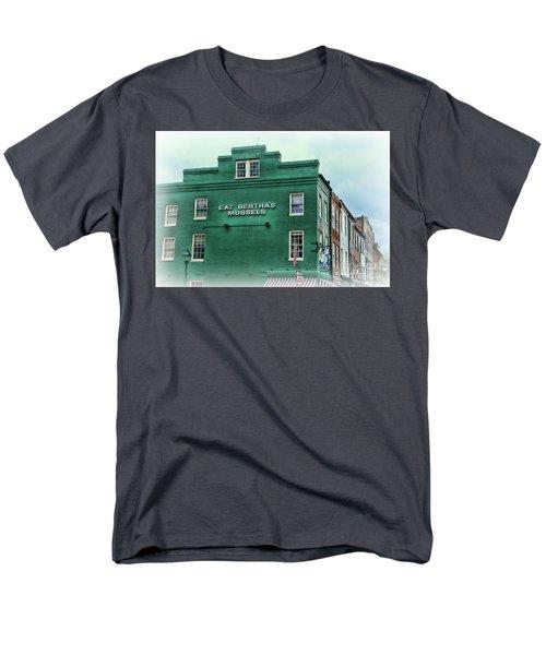 Eat Berthas Mussels  Men's T-Shirt  (Regular Fit) by Paul Ward