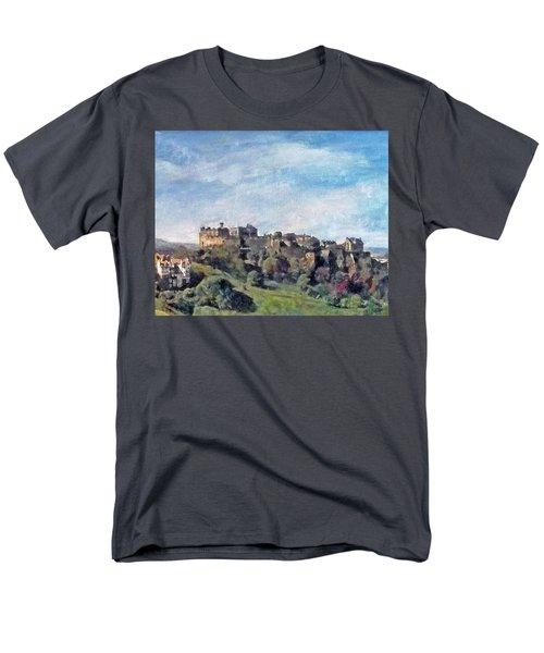 Edinburgh Castle Bright Men's T-Shirt  (Regular Fit) by Richard James Digance