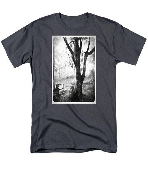 Tree In The Mist Men's T-Shirt  (Regular Fit) by Rena Trepanier