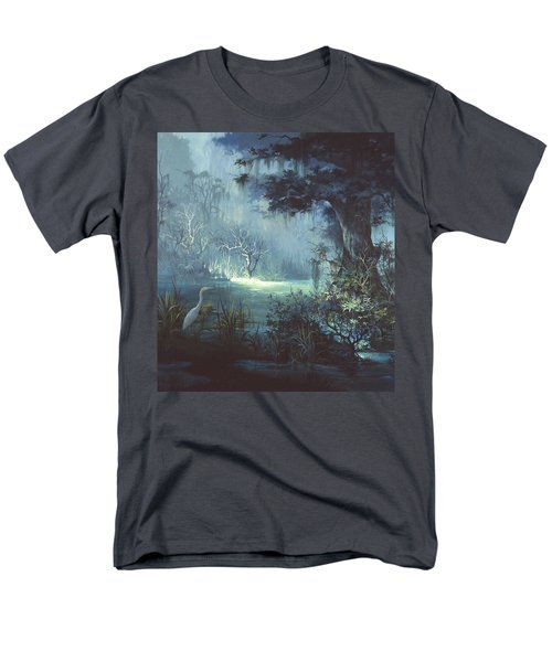 Egret In The Shadows Men's T-Shirt  (Regular Fit) by Michael Humphries