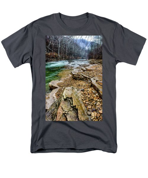 Men's T-Shirt  (Regular Fit) featuring the photograph Elk River In The Rain by Thomas R Fletcher