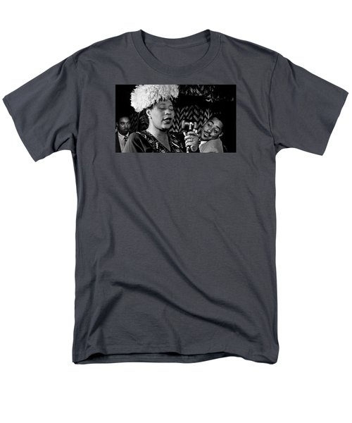 Ella Fitzgerald Dizzy Gillespie And Ray Brown William Gottlieb Photo Nyc 1947-2015 Men's T-Shirt  (Regular Fit) by David Lee Guss