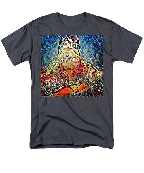 Men's T-Shirt  (Regular Fit) featuring the digital art Ellis The Turtle by Erika Swartzkopf