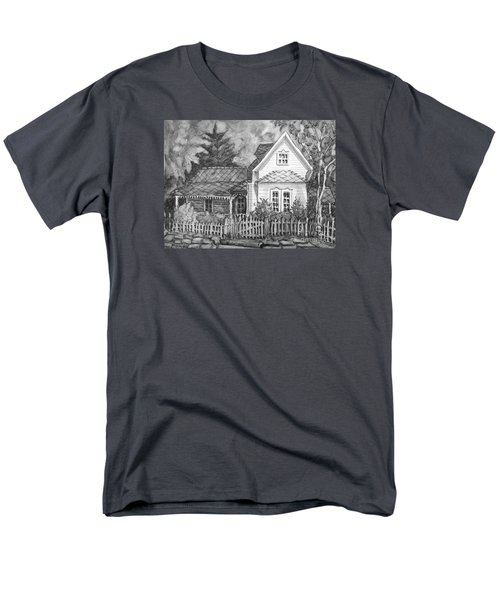 Men's T-Shirt  (Regular Fit) featuring the painting Elma's House In Bw by Gretchen Allen