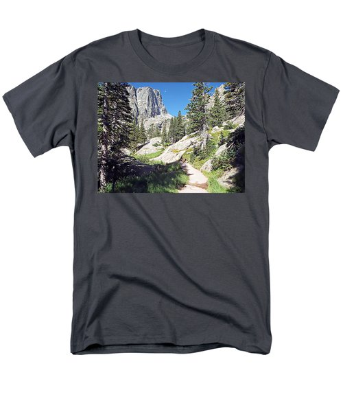 Men's T-Shirt  (Regular Fit) featuring the photograph Emerald Lake Trail - Rocky Mountain National Park by Joseph Hendrix