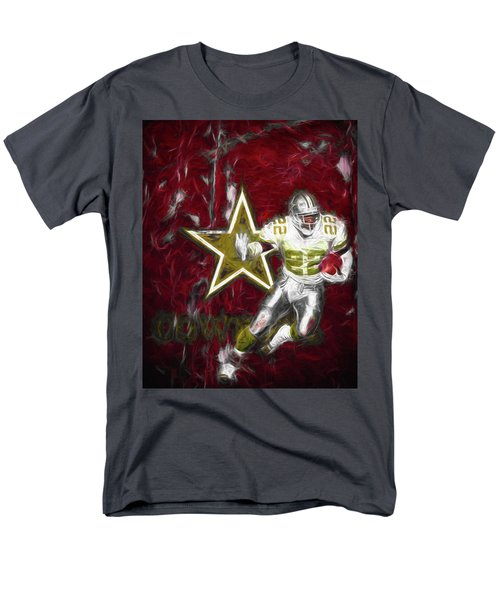 Men's T-Shirt  (Regular Fit) featuring the photograph Emmitt Smith Nfl Dallas Cowboys Gold Digital Painting 22 by David Haskett