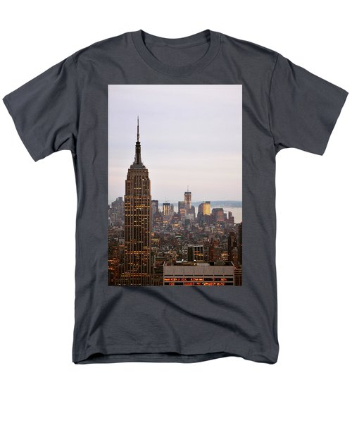 Empire State Building No.2 Men's T-Shirt  (Regular Fit) by Zawhaus Photography