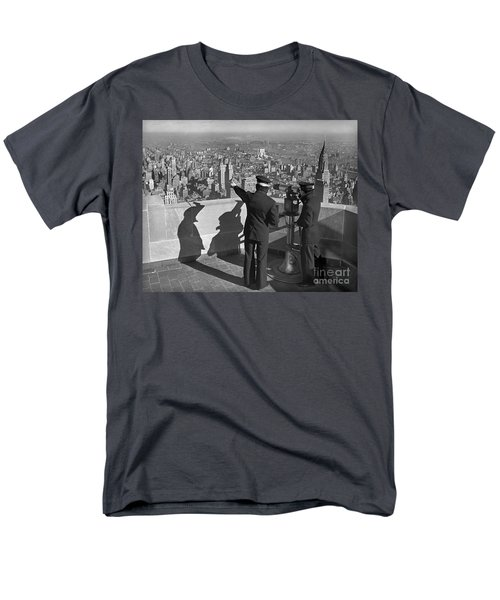 Empire State Lookout 1947 Men's T-Shirt  (Regular Fit) by Martin Konopacki Restoration