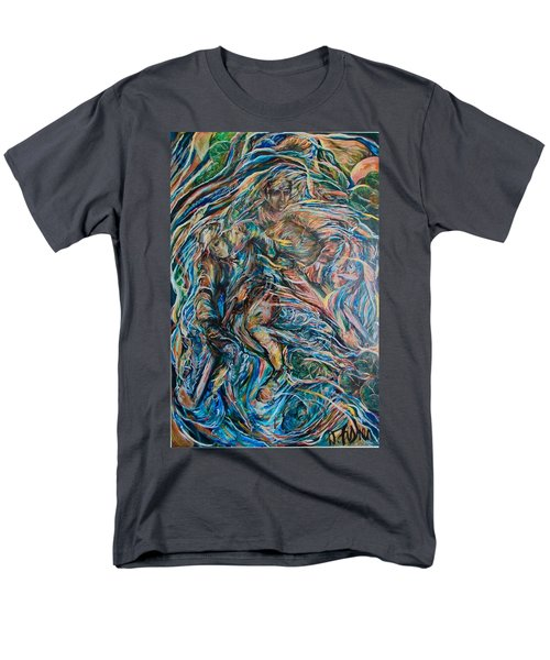 Men's T-Shirt  (Regular Fit) featuring the painting Energy by Dawn Fisher