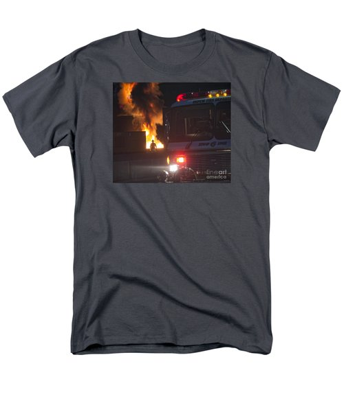 Men's T-Shirt  (Regular Fit) featuring the photograph Engine 6 by Jim Lepard