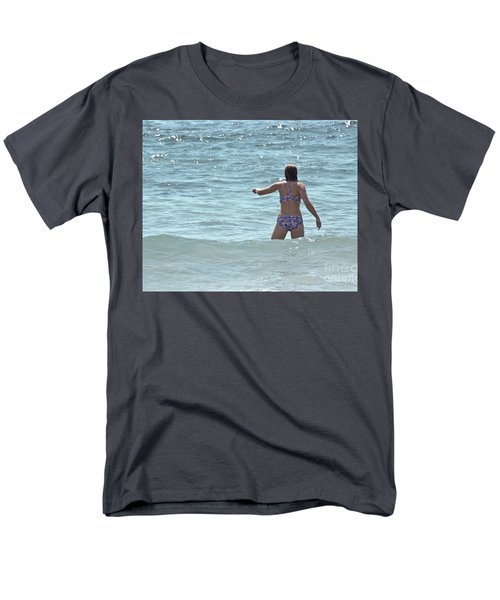 Entering Waves Of Pacific Ocean Men's T-Shirt  (Regular Fit) by Yurix Sardinelly