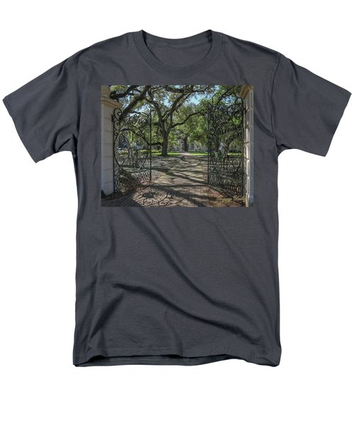 Men's T-Shirt  (Regular Fit) featuring the photograph Entrance Gate To Ul Alum House by Gregory Daley  PPSA