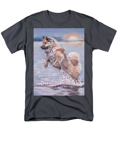 Men's T-Shirt  (Regular Fit) featuring the painting Eurasier In The Sea by Lee Ann Shepard