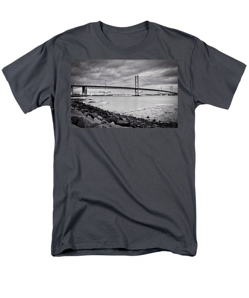 Men's T-Shirt  (Regular Fit) featuring the photograph Evening At The Forth Road Bridges by RKAB Works