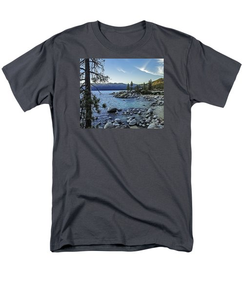 Evening At The Harbor-edit Men's T-Shirt  (Regular Fit) by Nancy Marie Ricketts