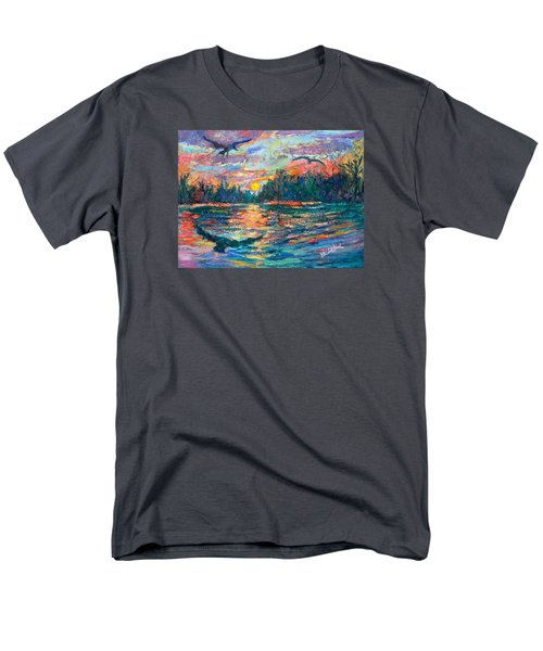 Men's T-Shirt  (Regular Fit) featuring the painting Evening Flight by Kendall Kessler