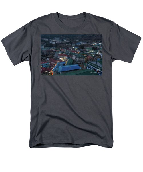 Men's T-Shirt  (Regular Fit) featuring the photograph Evening In Namche Nepal by Mike Reid