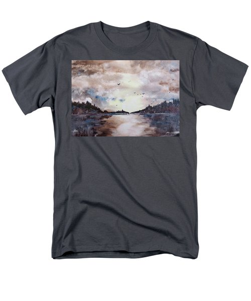 Men's T-Shirt  (Regular Fit) featuring the painting Evening Light by Geni Gorani