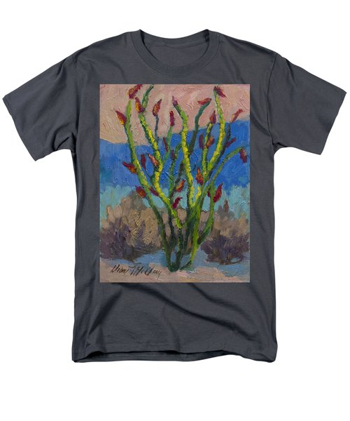 Evening Ocotillo Men's T-Shirt  (Regular Fit) by Diane McClary