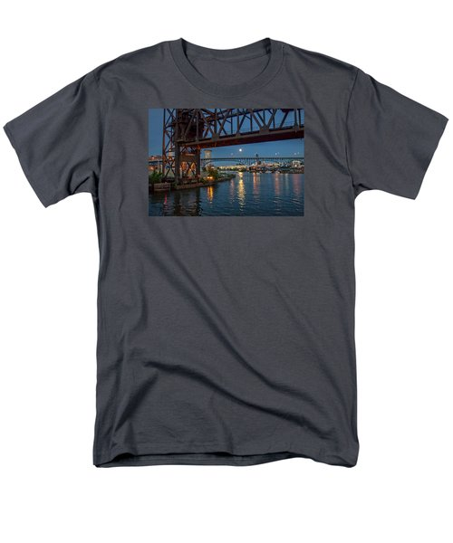 Men's T-Shirt  (Regular Fit) featuring the photograph Evening On The Cuyahoga River by Brent Durken