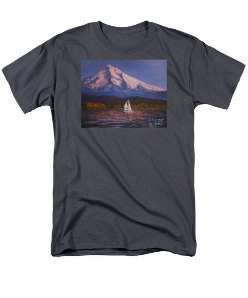 Men's T-Shirt  (Regular Fit) featuring the painting Evening Sail by Jeanette French