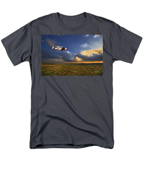 Men's T-Shirt  (Regular Fit) featuring the photograph Evening Spitfire by Meirion Matthias