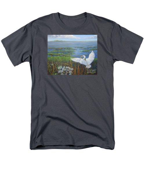 Everglades Egret Men's T-Shirt  (Regular Fit) by Anne Marie Brown
