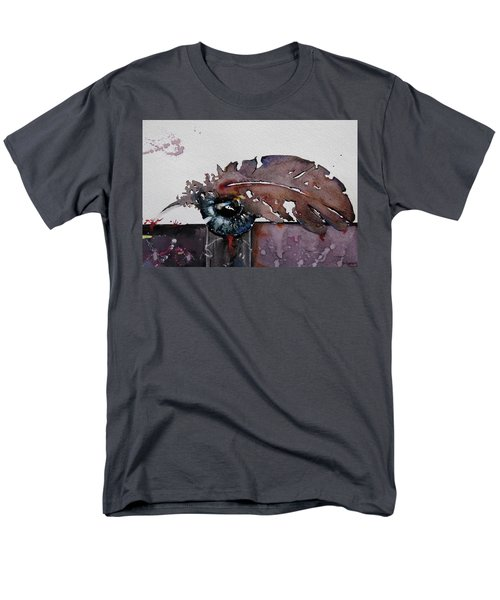 Men's T-Shirt  (Regular Fit) featuring the painting Eye Feather by Geni Gorani