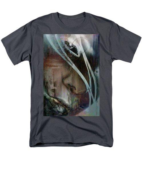 Men's T-Shirt  (Regular Fit) featuring the digital art Face Pop by Greg Sharpe
