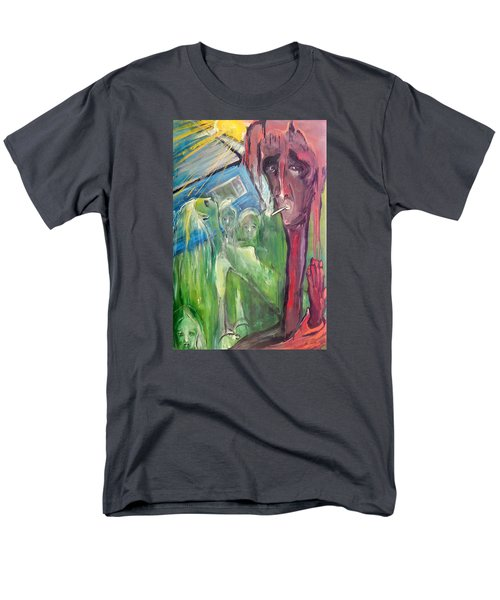 Men's T-Shirt  (Regular Fit) featuring the painting Faintly Visionary by Kenneth Agnello