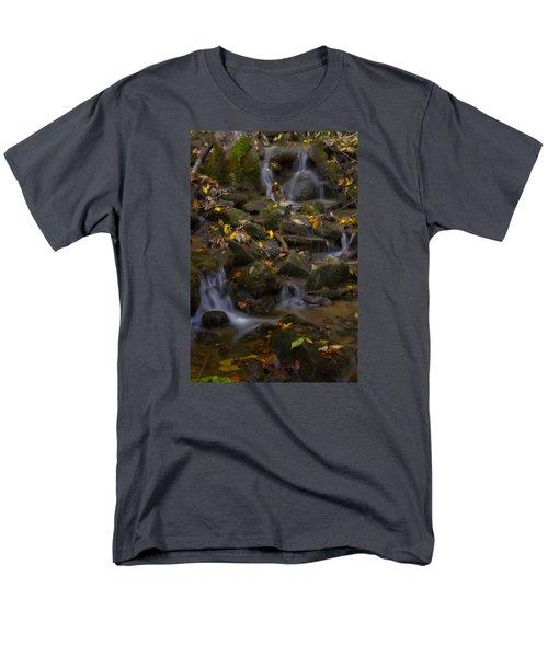 Men's T-Shirt  (Regular Fit) featuring the photograph Fall Cascades by Ellen Heaverlo