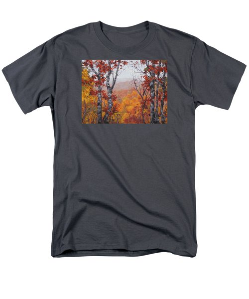 Men's T-Shirt  (Regular Fit) featuring the painting Fall Color by Karen Ilari