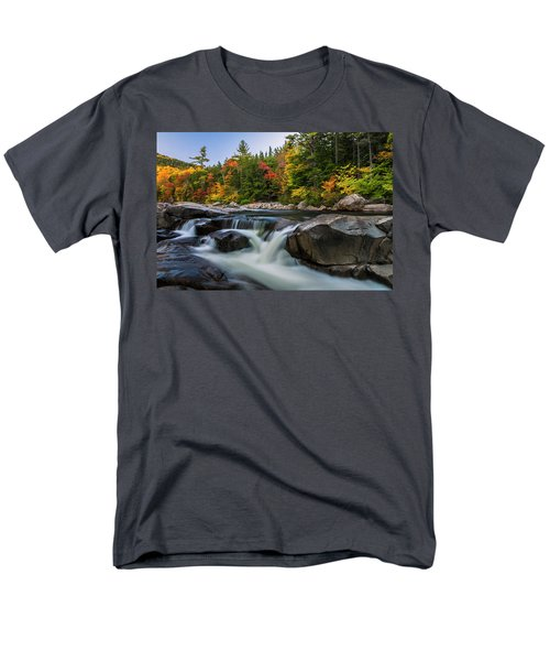 Fall Foliage Along Swift River In White Mountains New Hampshire  Men's T-Shirt  (Regular Fit) by Ranjay Mitra