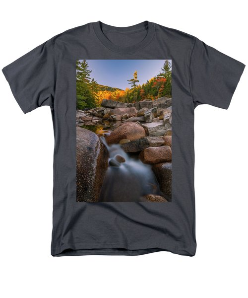 Men's T-Shirt  (Regular Fit) featuring the photograph Fall Foliage In New Hampshire Swift River by Ranjay Mitra